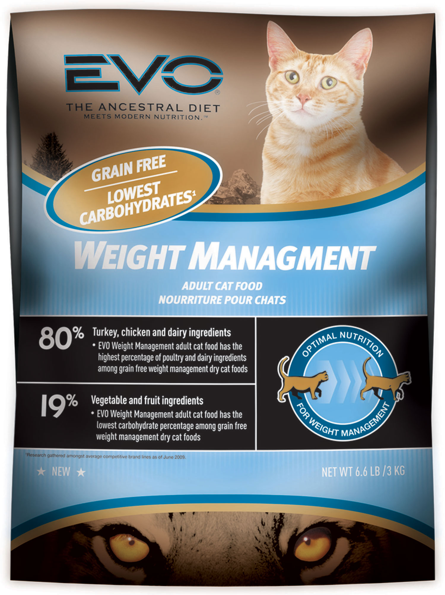 Evo Weight Management Dry Cat Food Ingredients