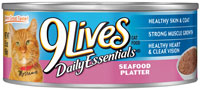 9 Lives Daily Essentials Seafood Platter Canned Cat Food