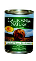 California Natural Lamb and Brown Rice Canned Dog Food