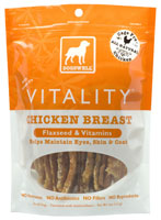 Dogswell Vitality Chicken Breast with Flaxseed and Vitamins Dog Treats