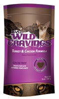 EVO Grain Free Wild Cravings Turkey and Chicken Formula Cat Treats (50% OFF)
