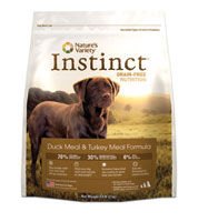 Nature's Variety Instinct Grain-Free Duck and Turkey Diet Formula Dry Dog Food