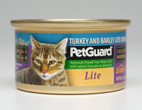 Petguard Turkey Barley Lite Dinner Canned Cat Food