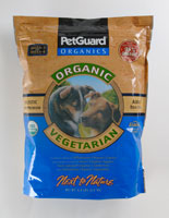 Petguard Next To Nature ''Organic Vegetarian'' Dry Adult Dog Food