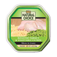 Natural Choice Roasted Turkey and Vegetable Dinner Dog Food Tray