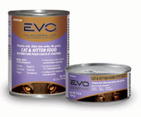 EVO Grain Free Turkey and Chicken Formula Canned Cat and Kitten Food