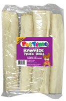 Pet Time Rawhide Retriever Natural Flavor Rolls for Dogs