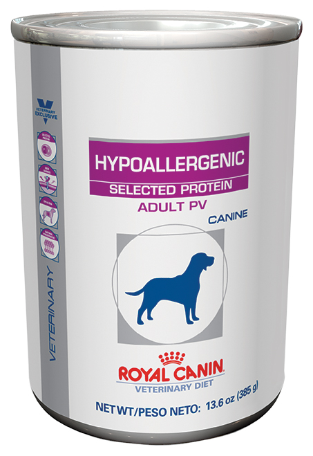 Royal Canin Veterinary Diet Canine Hypoallergenic Selected Protein Adult PV Canned Dog Food