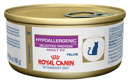 Royal Canin Veterinary Diet Feline Hypoallergenic Selected Protein Adult PV Canned Cat Food
